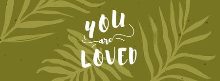 Ontwerpsjabloon van Facebook cover van Mental Health Inspiration on Green Leaves pattern