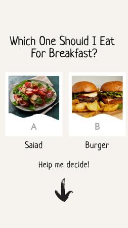 Healthy or Unhealthy Food Choice Instagram Story Modelo de Design