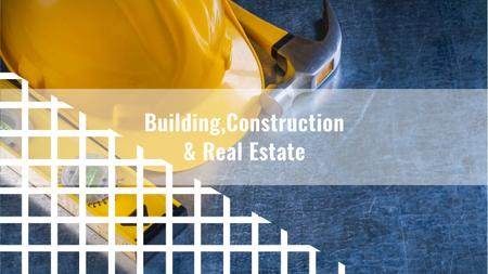 Plantilla de diseño de Building Business with Construction Tools on Blue Youtube