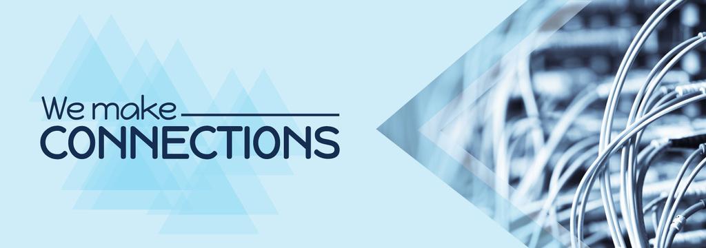 Modèle de visuel Connection Quote Electronic Wires in Blue - Tumblr