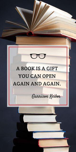 Ontwerpsjabloon van Graphic van Educational Quote Stacked Books