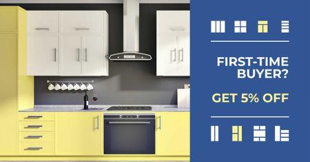 Plantilla de diseño de Kitchen Store sale Modern Home Interior Facebook AD