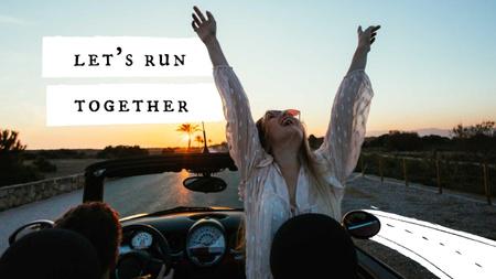 Plantilla de diseño de Summer Inspiration with Happy Girl in Car Youtube Thumbnail