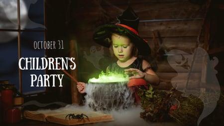 Ontwerpsjabloon van FB event cover van Children's Halloween Party Announcement