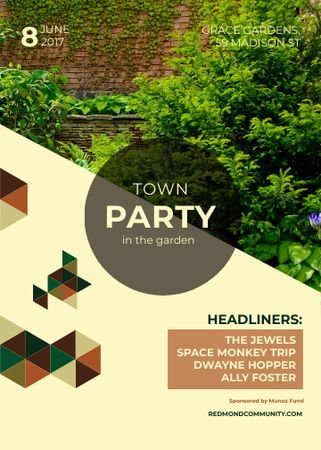 Template di design Town Party in Garden invitation with backyard Flayer