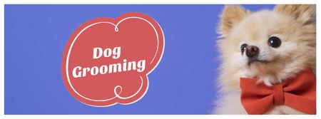 Dog Grooming services ad Facebook cover Modelo de Design