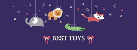 Modèle de visuel Best Toys for Children Sale Offer - Facebook cover