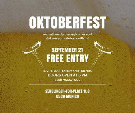 Ontwerpsjabloon van Facebook van Traditional Oktoberfest treat and beer