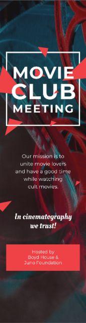 Movie Club Invitation with Vintage Film Projector Skyscraper – шаблон для дизайна