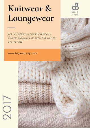 Knitwear and loungewear Advertisement Poster Tasarım Şablonu