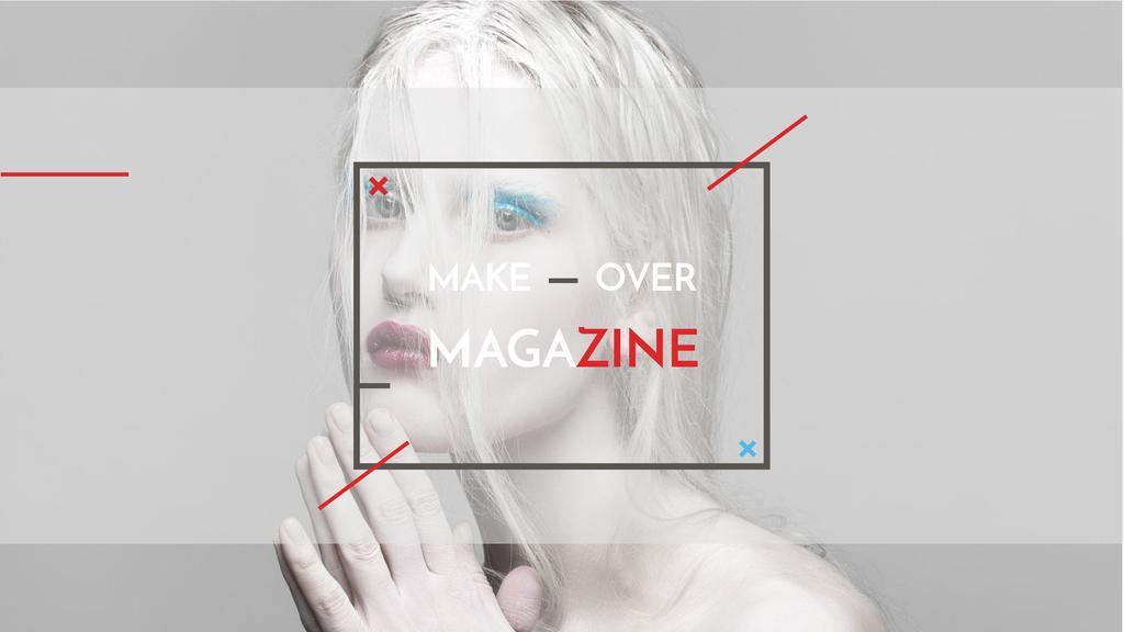 Fashion Magazine Ad with Girl in White Makeup Youtube – шаблон для дизайна