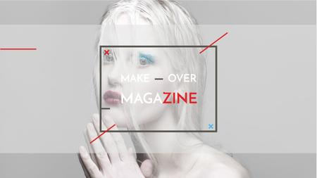 Fashion Magazine Ad with Girl in White Makeup Youtube Modelo de Design