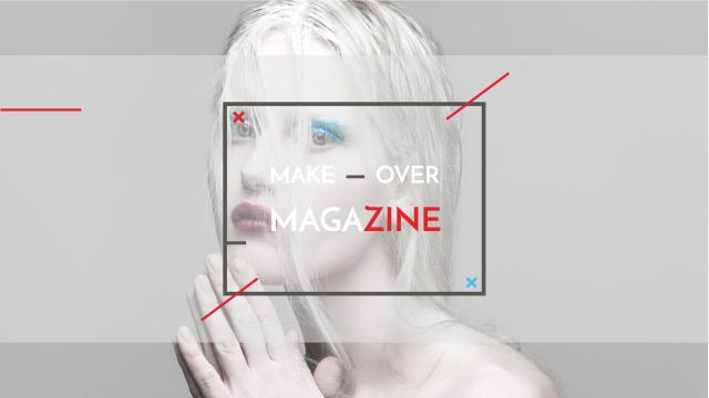 Fashion Magazine Ad with Girl in White Makeup Youtube Tasarım Şablonu