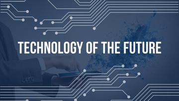 Futuristic Technology Man Using Digital Tablet