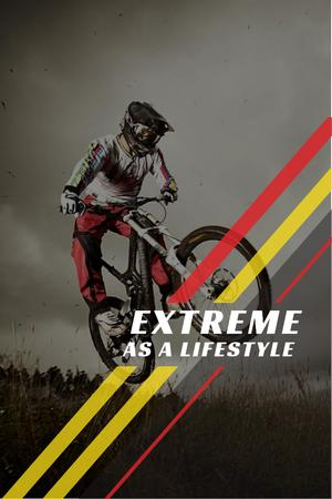 Extreme as a lifestyle with Cyclist Pinterest – шаблон для дизайну