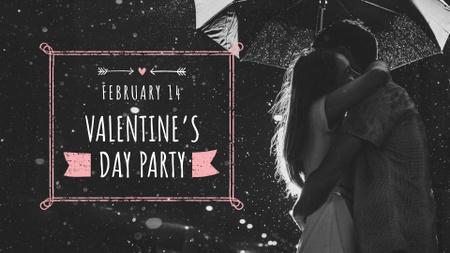 Modèle de visuel Valentine's Day Party Announcement with Cute Couple - FB event cover