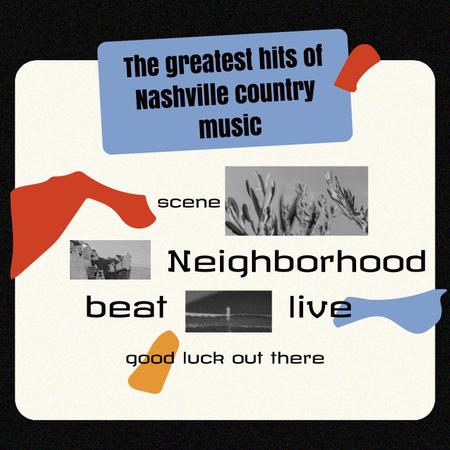 country music Album Coverデザインテンプレート
