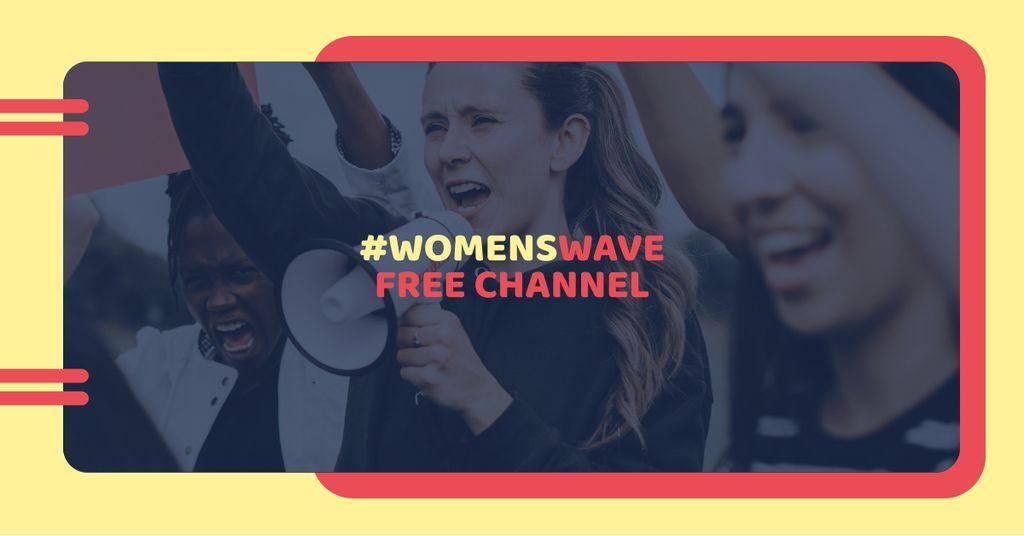Channel Ad with Women on Demonstration — Modelo de projeto