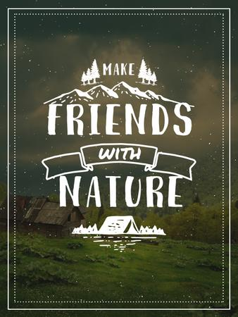 Plantilla de diseño de Nature Quote Scenic Mountain View Poster US