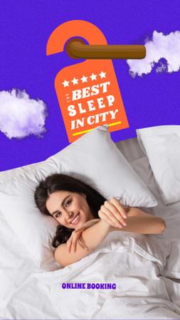 Szablon projektu Happy Girl resting in hotel Instagram Video Story
