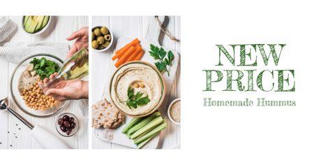 Template di design Hummus Recipe Fresh Cooking Ingredients Facebook AD