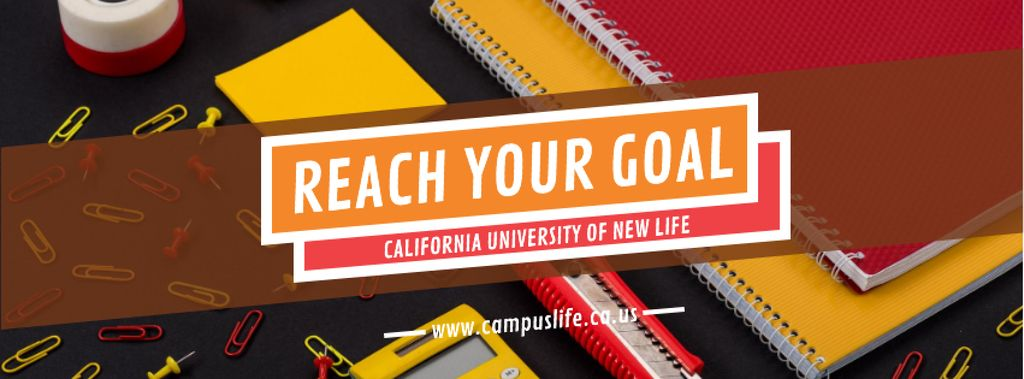 University Ad with School Stationery on Table — Crear un diseño