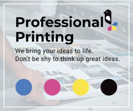 Professional printing poster Large Rectangle Tasarım Şablonu