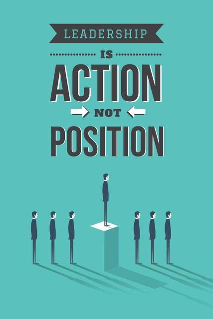Ontwerpsjabloon van Pinterest van Business leadership concept