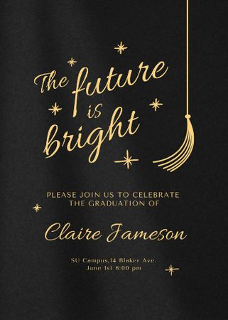 Graduation Ceremony Bright Announcement Invitation – шаблон для дизайна