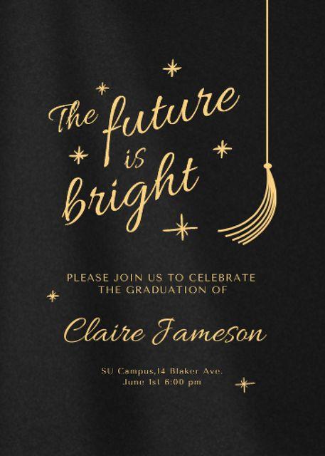Graduation Ceremony Bright Announcement Invitation – шаблон для дизайну