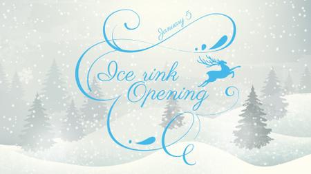 Plantilla de diseño de Ice Rink Opening Announcement FB event cover