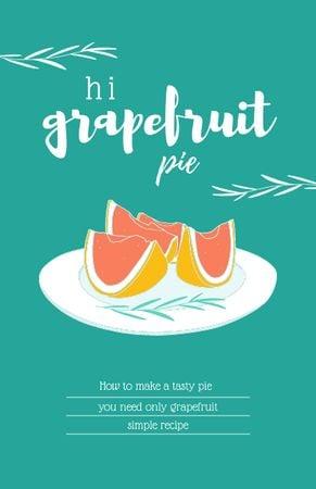 Platilla de diseño Grapefruit Pie Cooking Steps Recipe Card