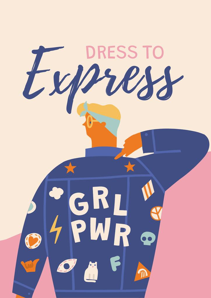 Girl Power bright Inspiration Poster Modelo de Design
