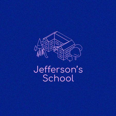 Education in School Offer with Building Emblem Logo – шаблон для дизайну