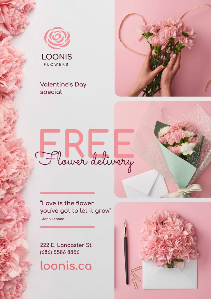 Valentines Day Flowers Delivery Offer  — Créer un visuel