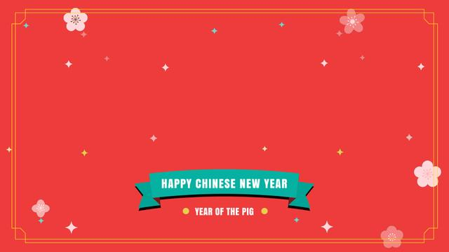 Plantilla de diseño de Happy Chinese Pig New Year Full HD video