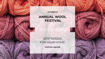 Wool Festival with Yarn Skeins