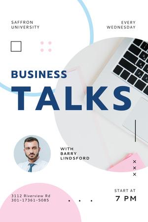 business talks Pinterest – шаблон для дизайну