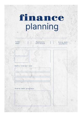 Finance planning with budget tracker Schedule Planner Modelo de Design