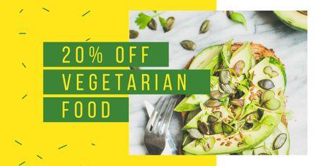 Designvorlage Toast with raw Avocado and seeds für Facebook AD