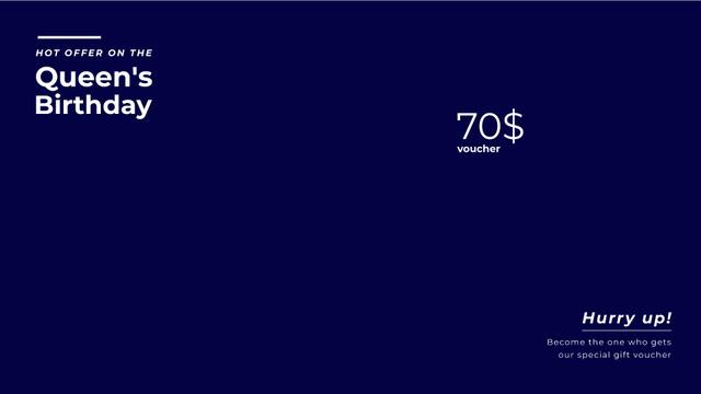 Queen's Birthday London Tour Offer Full HD video Modelo de Design