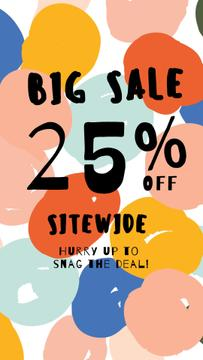 Sale Offer with Colorful Paint Circles
