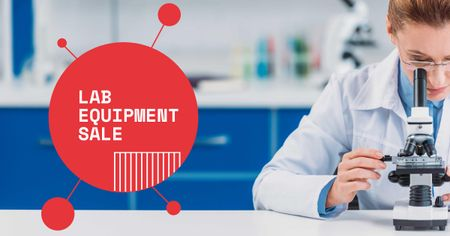 Lab Equipment Sale with Scientist Facebook AD – шаблон для дизайна