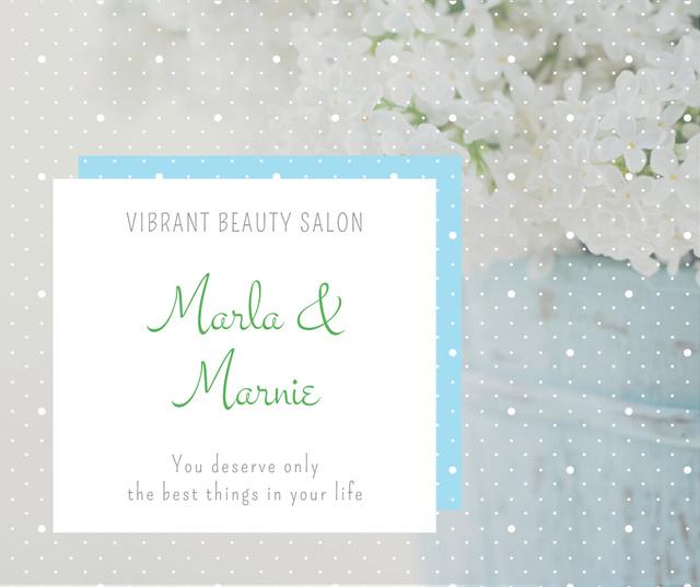 Ontwerpsjabloon van Facebook van Beauty studio ad with Spring Flowers