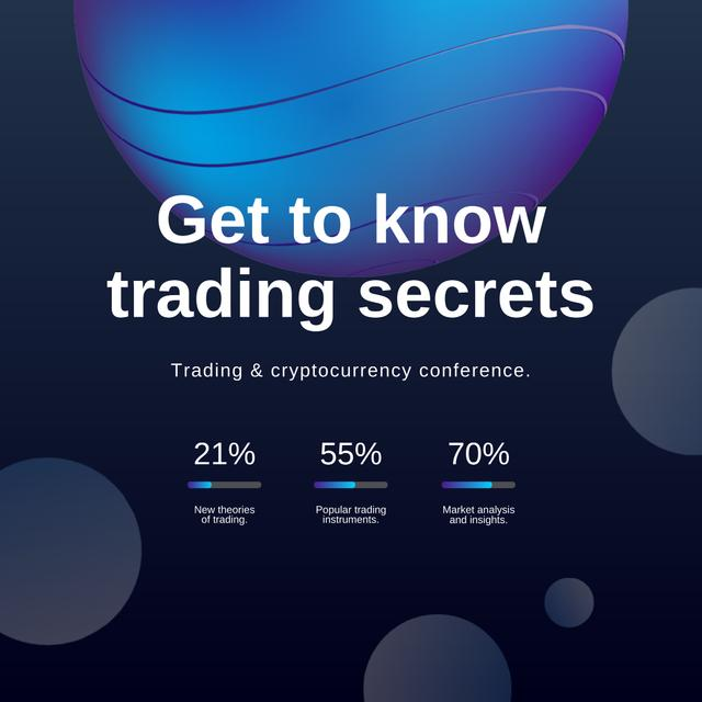 Trading Conference announcement on abstract background Instagram Modelo de Design
