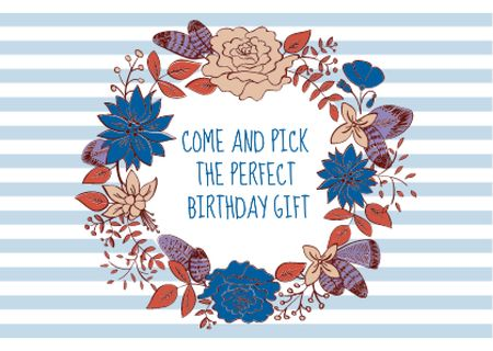 Happy birthday greeting card Postcard Modelo de Design