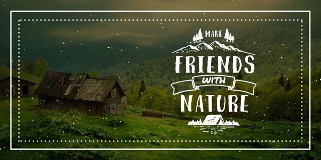Designvorlage Make friends with nature poster für Image