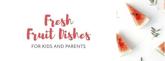 Fruit Dishes for Kids and Parents Offer Facebook cover Modelo de Design