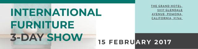 Designvorlage International furniture show Announcement für Twitter