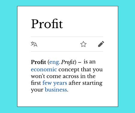 Ontwerpsjabloon van Facebook van Funny Profit concept with dictionary
